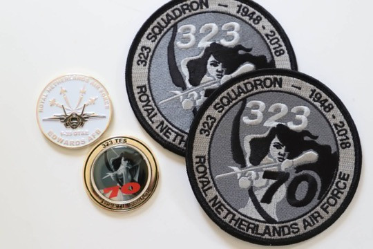 """323 TES """"Diana"""" patch & challenge coins"""