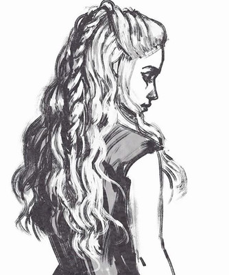 Sharing a previous Dany sketch for #game