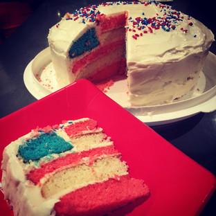 American cake for Naturalization Celebration