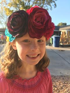 Dress up floral crown