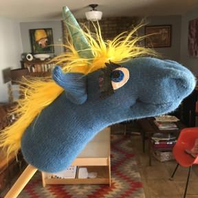 Sock horse for the kindergarten rodeo.