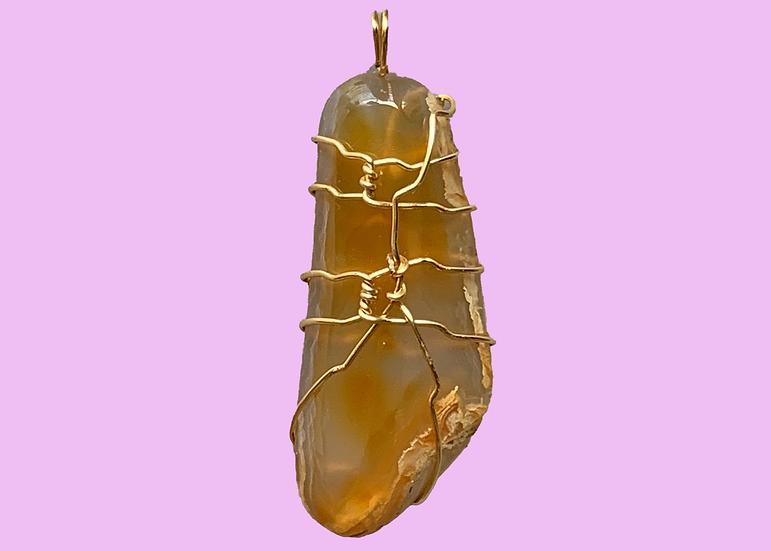 Mango Quartz Silver-Wrapped