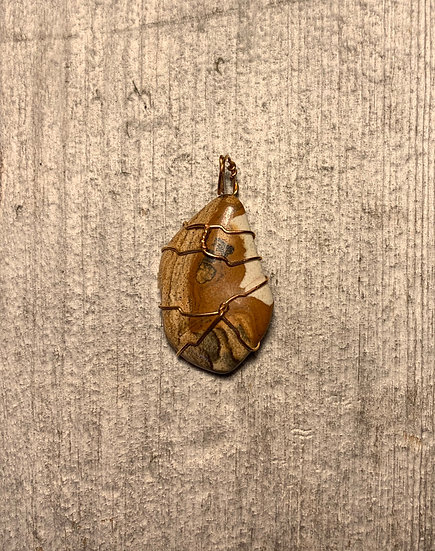 Picture Jasper Gold-Wrapped