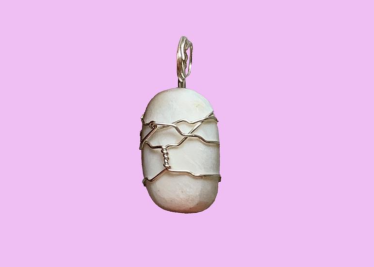 Scolecite Silver-Wrapped