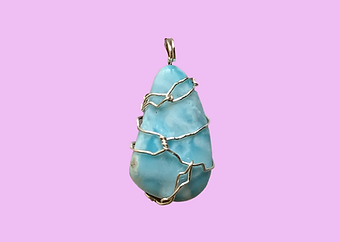 Larimar Silver-Wrapped