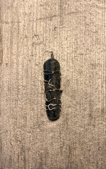 Blue Kyanite Silver-Wrapped