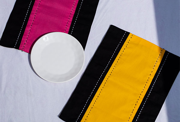 Patchwork kantha table mat