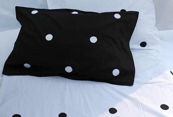 Applique Polka Bed sheet Set