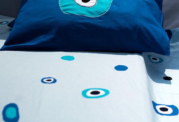 Evil Eye Applique Bed Sheet