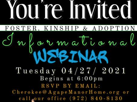 YOU'RE INVITED :) April 27th 2021 @6pm