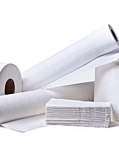 Papéis toalha e higiênicos