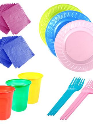 Descartáveis coloridos