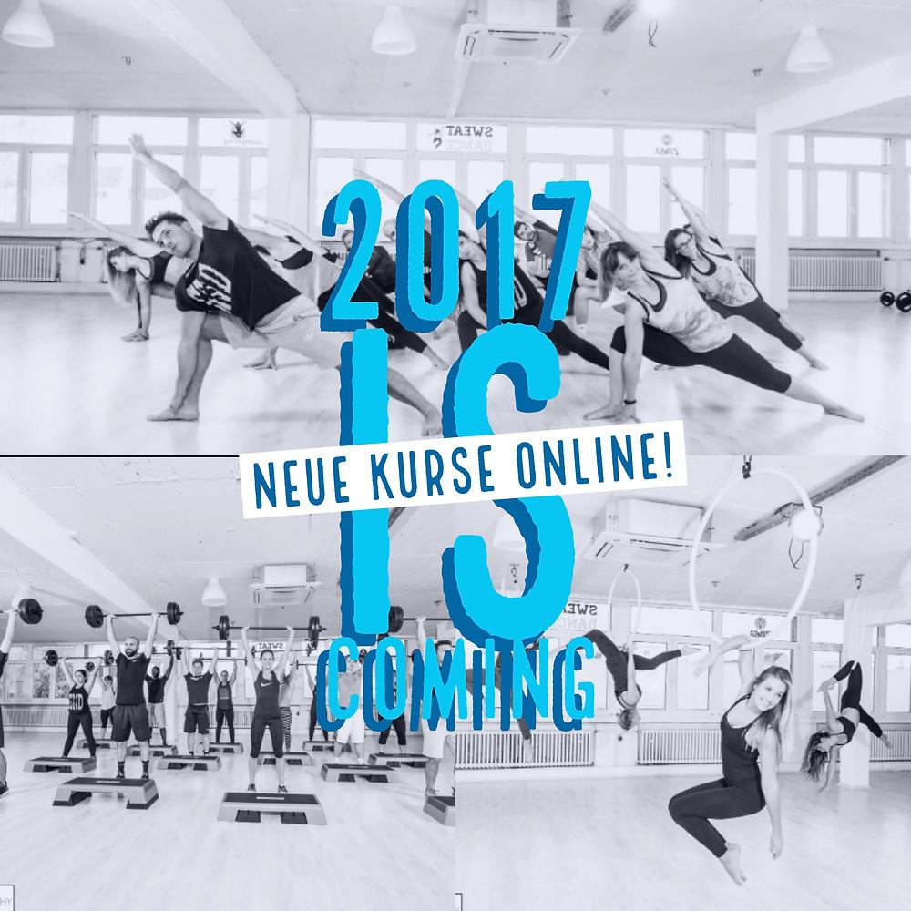SweatnDance Neue Kurse 2017 Pole Dance BodyBalance Aerial Hoop