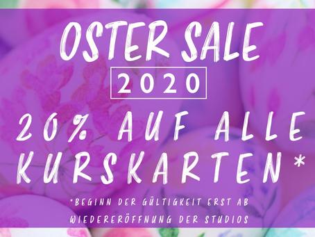 Ostersale 20% auf Kurskarten