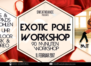 Exotic Pole Workshop mit Anne Bailly (Heels & Kneepads empfohlen)