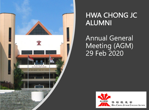 hwa chong jc alumni Annual General meeting 2020