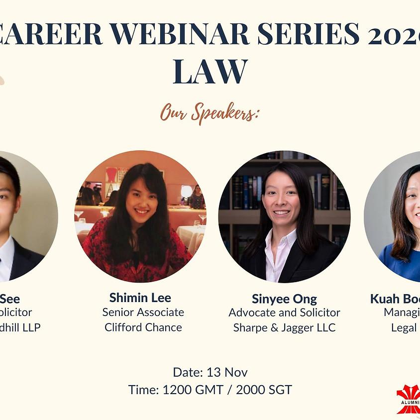 Career Webinar Series - Law