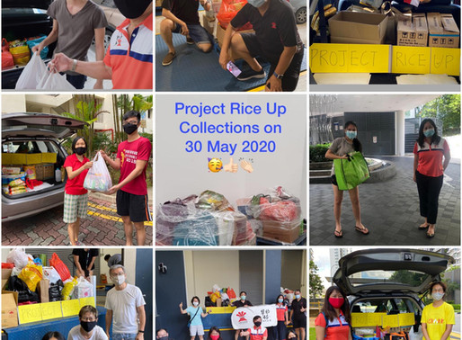 food donation drive in action for project rice up