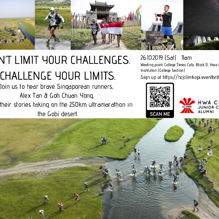 Don't Limit Your Challenges. Challenge Your Limits - Alumni sharing at LimKopi 26 Oct 2019