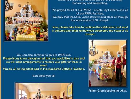 PAPA Celebrates with Saint Joseph Altar