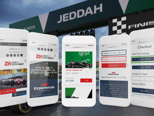 ZK Sports & Entertainment Launch Online for the Saudi Arabia Formula 1 VIP Paddock Club Tickets