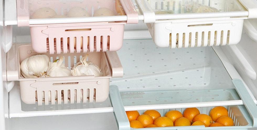Kjøleskap organiserer - oppbevaring 1/2/4 pakning