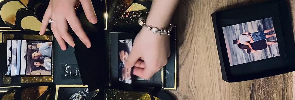 Personlig explosion box - foto box - album - gave
