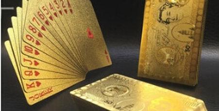Spillekort i gull - Vannfast