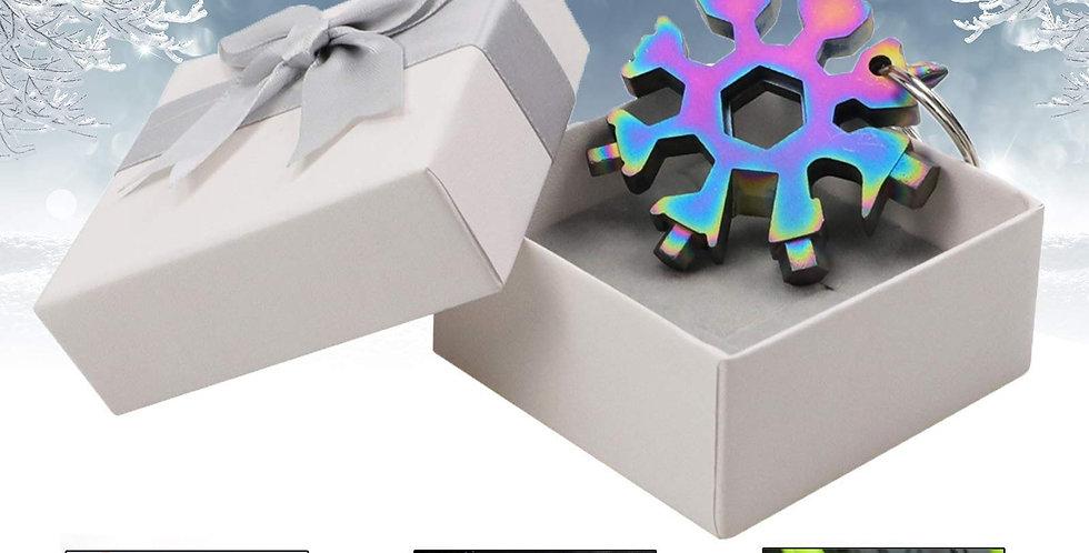 Multifunksjonell verktøy 18 i 1 - Nøkkelring av snøkrystall