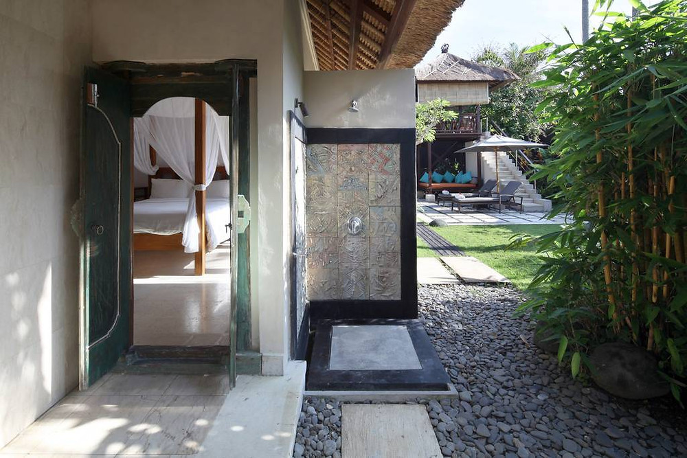 bali villa outdoor rain shower