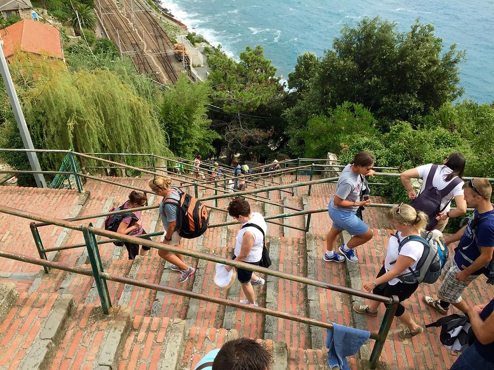 cinque terre corniglia stairs