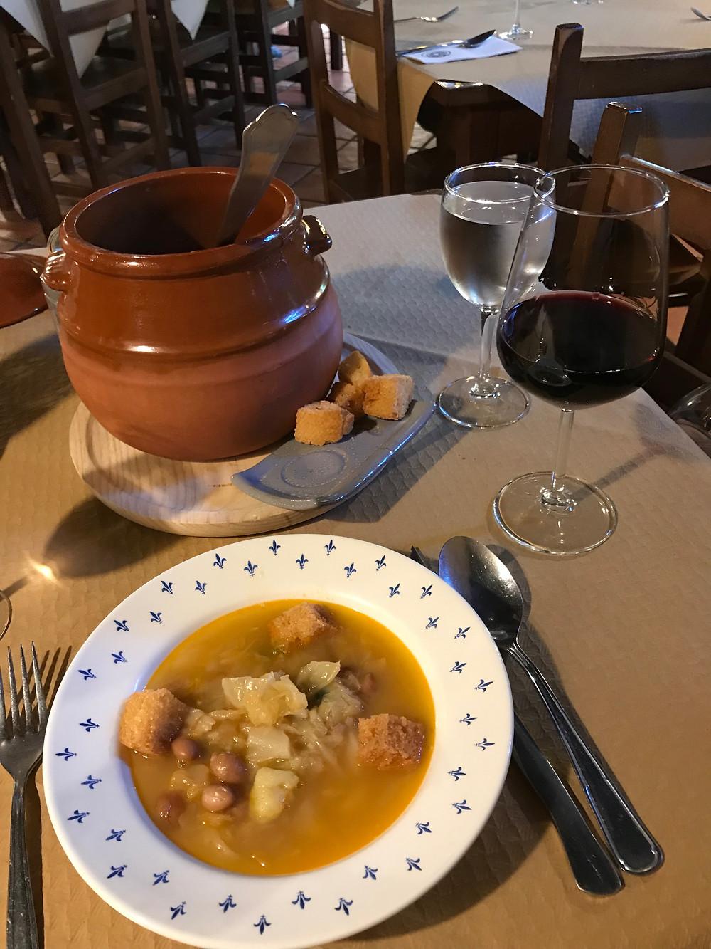 soup wine rabanal spain