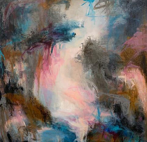"""20"""" x 20"""" Mixed media on deep canvas"""