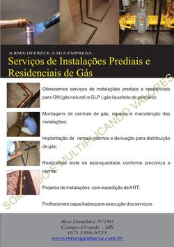FOLDER INSTALAÇÃO DE GAS