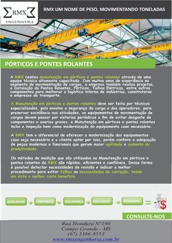 PORTICOS E PONTES ROLANTES