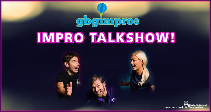 Bild till livestreaming - Impro Talkshow