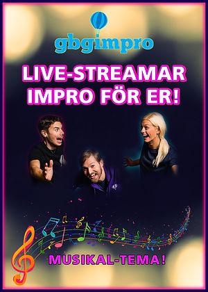 Live streamad impro musikaltema hemsidea