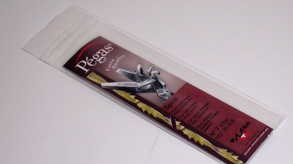 Pegas #7 Spiral Blades 31.8 tpi 12 / pack