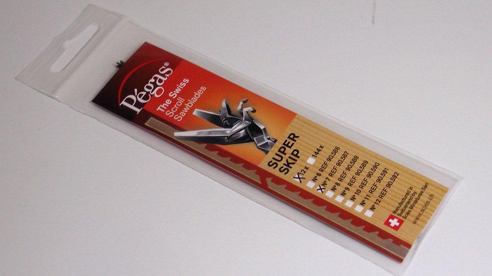 Pegas #7 Super Skip Blades 11.3 tpi 12/pack