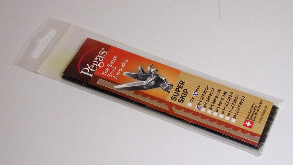 Pegas #6 Super Skip Blades 144/pack