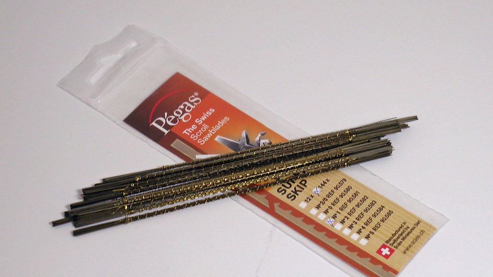 Pegas #0 Super Skip Blades 19.3 tpi 144/pack