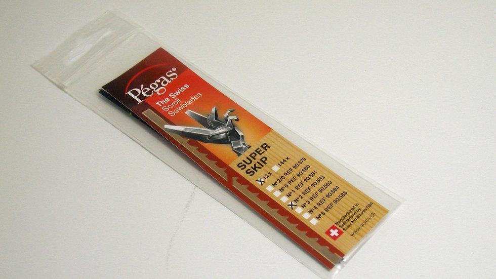 Pegas #2 Super Skip Blades 12/pack tpi