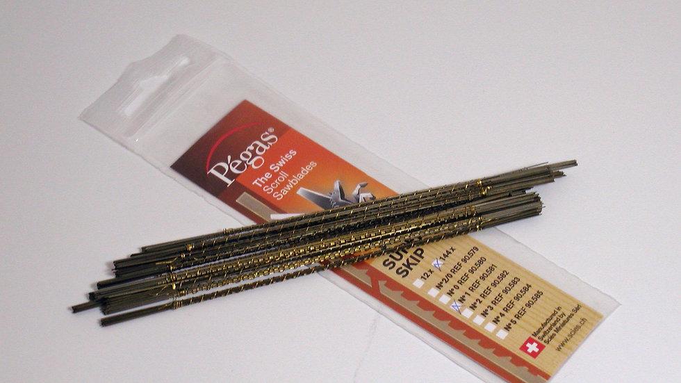 Pegas #2 Super Skip Blades 144/pack tpi