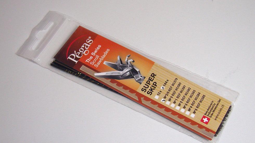 Pegas #2/0 Super Skip Blades 21.4 tpi 12/pack