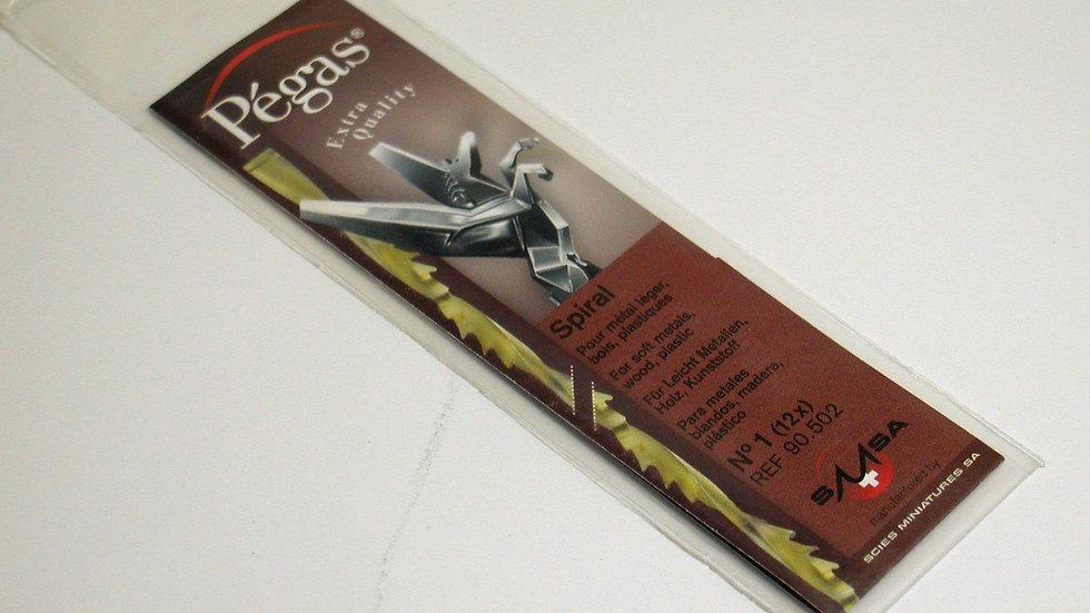 Pegas #1 Spiral Blades 50.8 tpi 12 / pack