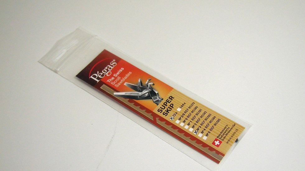 Pegas #3 Super Skip Blades 12/pack
