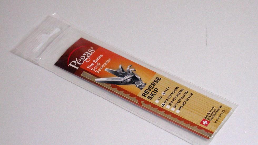Pegas #3 Skip Reverse Blades 16.4 tpi 144/pack