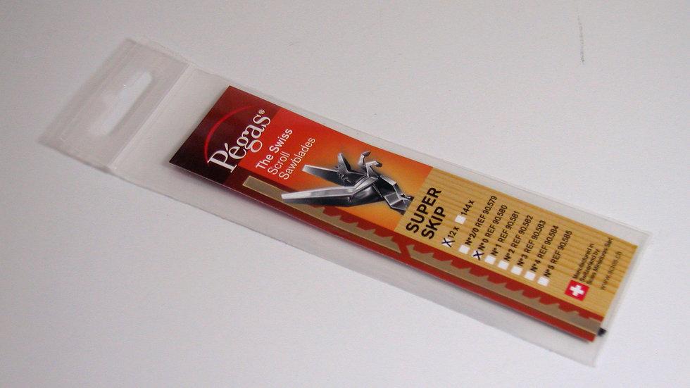 Pegas #0 Super Skip Blades 19.3 tpi 12/pack