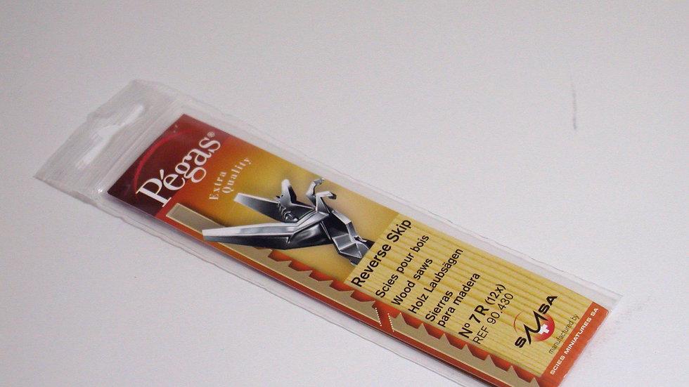Pegas #7 Skip Reverse Blades 13.0 tpi 12/pack