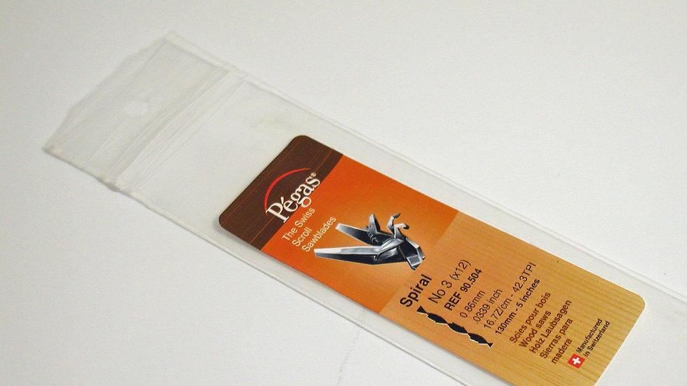 Pegas #3 Spiral Blades 12 / pack